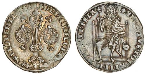 Italy, Florence, Republic (1189-1532), silver Florin, Guelfo Grosso type of 4-Soldi. Image courtesy Spink and Son, Ltd.