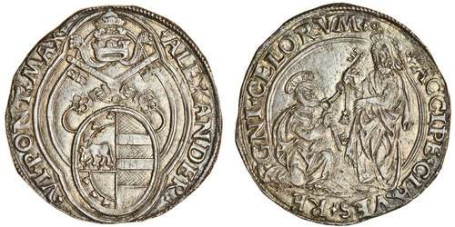Italy, Rome, Alexander VI (1492-1503), Double-Grosso. Image courtesy Spink and Son, Ltd.