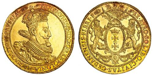Polish Sigismund III Vasa 7 ducat gold coin. Image courtesy Spink and Son, Ltd.
