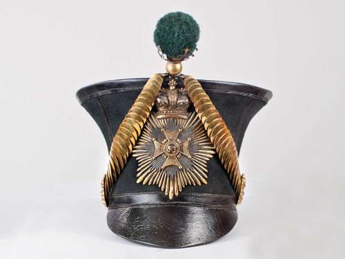 53rd (The King's Shropshire Light Infantry) Regiment Officer's 1828-Pattern Shako. Image courtesy Spink USA