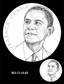 Barack Obama Presidential Medal design, Term One. Image courtesy US Mint