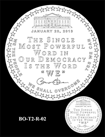 Barack Obama Presidential Medal design, first term (2009-2012). Image courtesy US Mint