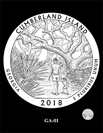 2018 Cumberland Island National Seashore design. Image courtesy US Mint