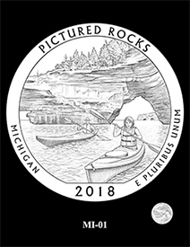 2018 Pictured Rocks National Lakeshore quarter design O1. Image courtesy US Mint