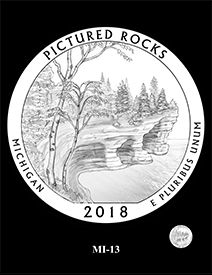 2018 Pictured Rocks National Lakeshore quarter design. Image courtesy US Mint