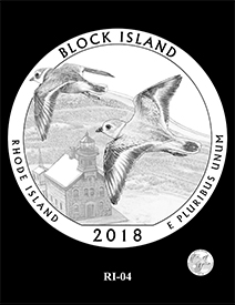 2018 Block Island National Wildlife Refuge design. Image courtesy US Mint