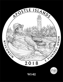 2018 Apostle Islands National Lakeshore design. Image courtesy US Mint