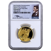 2016 1 oz. High Relief Proof Gold Saint Gaudens - Winged Liberty