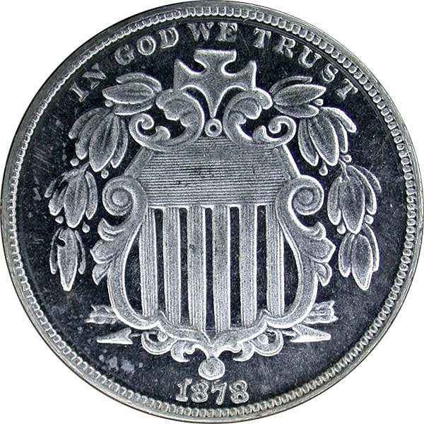 Counterfeit coin - 1878 Shield Nickel