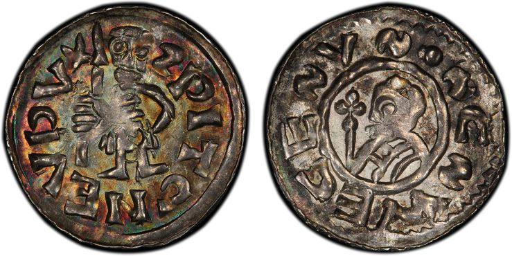 BOHEMIA. Spytihnew II. (Duke, 1055-1061). 1055-61 (ND) AR Denar. Images courtesy Atlas Numismatics