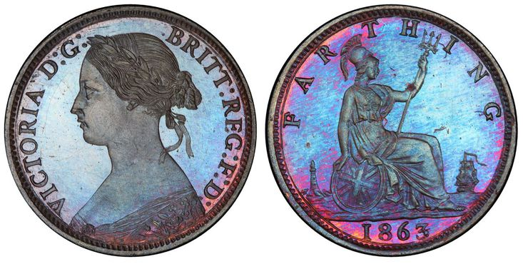 GREAT BRITAIN. Victoria. 1863 AE Farthing. Images courtesy Atlas Numismatics