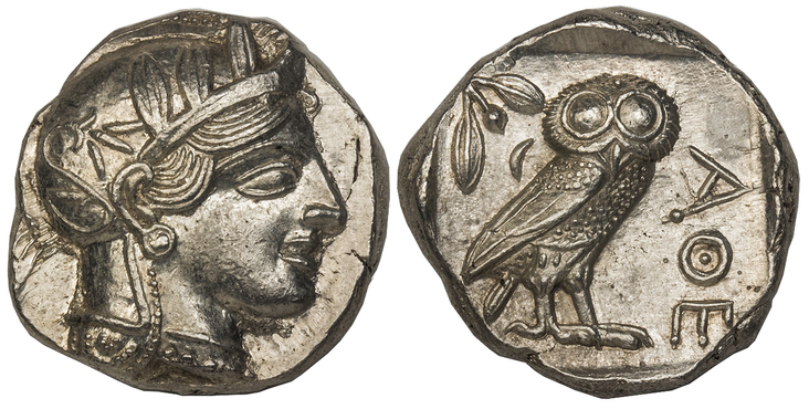 GREEK. ATTICA. Athens. Struck circa 440-404 BC. AR Tetradrachm. Images courtesy Atlas Numismatics