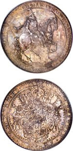 1620-dated 10 Taler coin struck for Friedrich Ulrich of Brunswick-Wolfenbüttel. Images courtesy Heritage Auctions