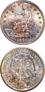 1878-S Trade Dollar. Images courtesy Heritage Auctions