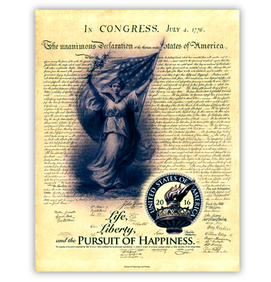 2016 Independence Collection: Pursuit of Happiness Intaglio Print. Image courtesy BEP