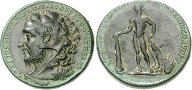 Bimetallic medallion of Roman Emperor Commodus. Image courtesy NGC