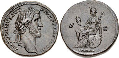 Brass Sestertius of Antoninus Pius. Image courtesy NGC