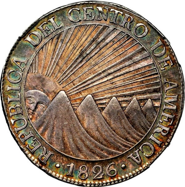 GUATEMALA. 8 Reales, 1826 silver coins