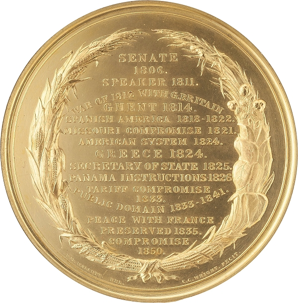 Henry Clay Gold Medal - 30 oz California Gold