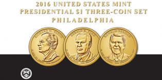 U.S. Mint Opens Sales for 2016 Presidential $1 Three-Coin Set Aug. 9
