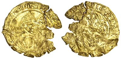 Lot 893: Edward III Gold Leopard of Florin (third coinage, first period). Images courtesy Spink