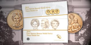2016 First Spouse Bronze Medal Series 3-Medal Set Avail. August 31