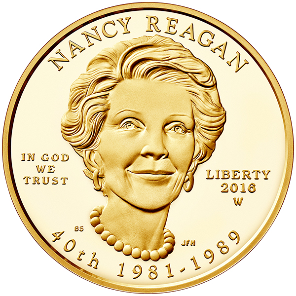 United States 2016 Nancy Reagan First Spouse $10 Gold Coin. image courtesy U.S. Mint