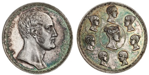 Russia, Nicholas I (1825-55), 'Family' Ruble (1 1/2 Ruble), 1836, by P. Utkin. Images courtesy Spink Auctions