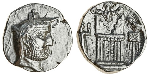 Kingdom of Persis, Autophradates II (early- mid 2nd cent. BCE), silver tetradrachm. Images courtesy Spink Auctions