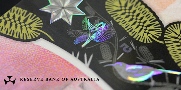 Security features on Australia 2016 $5 banknote. Image courtesy Reserve Bank of Australia