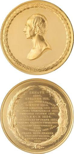 Henry Clay gold medal, 1852. Images courtesy Heritage Auctions