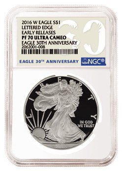 2016 30th Anniversary American Silver Eagle holder. Image courtesy NGC