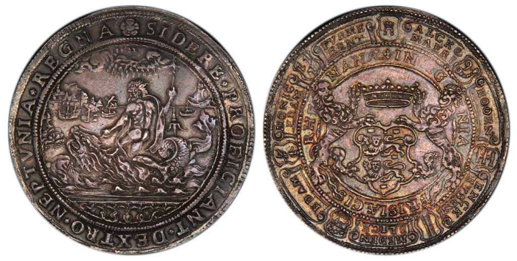NETHERLANDS. Holland. The Seven United Netherlands. (1581-1795). 1596 AR Medal. PCGS AU50. Images courtesy Atlas Numismatics