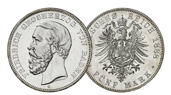 1888germany5mark