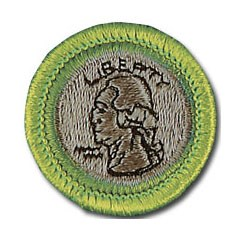 Boy Scout coin merit badge. Image courtesy Boy Scouts of America, Jeff Garrett, NGC