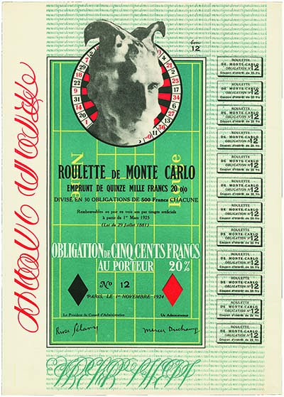 Monte Carlo Roulette. Image courtesy Spink Auctions