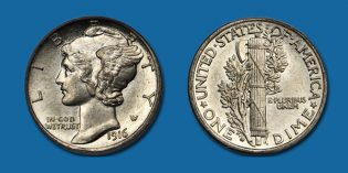 Stack's Bowers Auctions: Sharply Struck Key Date 1916-D Mercury Dime