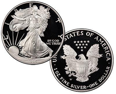 1995-W American Silver Eagle Proof Coin