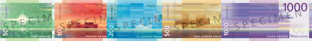 back, Norway 2016 series banknotes. Images courtesy Norges Bank