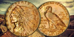 Stack's Bowers: Condition Census Gem 1914-D Indian Quarter Eagle Gold Coin