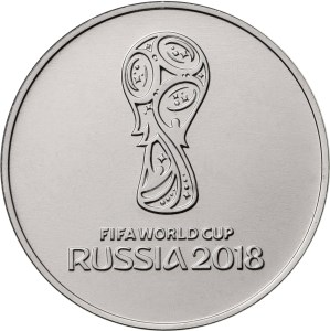 reverse, 3 ruble base metal 2018 FIFA World Cup commemorative coin. Image courtesy Bank of Russia