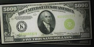 Heritage: Visually Stunning 1934 $5,000 Federal Reserve Note Could Cash in at $120,000