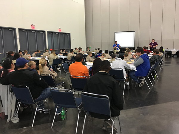 Boy Scouts Merit Badge program, 2016 Houston Money Show. Photo courtesy GHCC