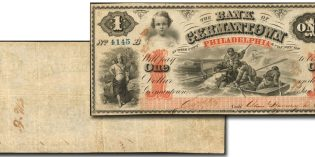 "Rare Bank of Germantown ""Polar Bear"" Note in March Stack's Bowers Baltimore Currency Auction"