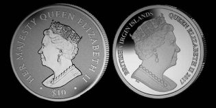 New 2017 Coin Celebrates 1st Ever Sapphire Jubilee for British Monarch