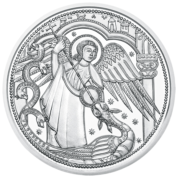 Reverse, Austria 2017 Michael - The Protecting Angel 10 Euro silver coin. Image courtesy Austrian Mint