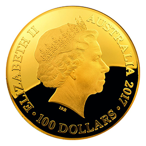 Obverse, Australia 2017 Celestial Dome gold domed coin. Image courtesy Royal Australian Mint