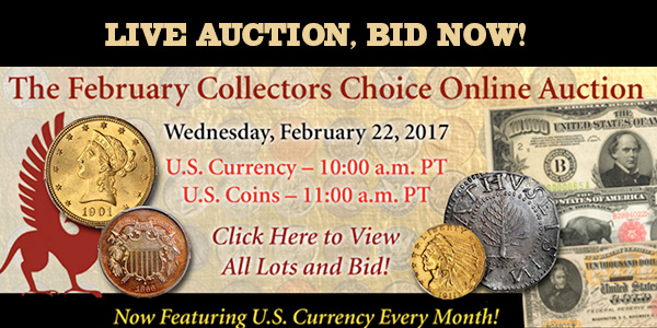 Stack's Bowers February Collectors Choice Online Auction