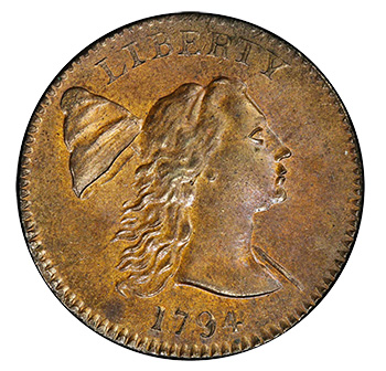 1794 cent head of '93
