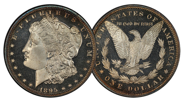 Coronet 1895 Dollar, Image Courtesy of PCGS